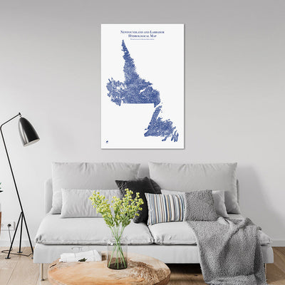 Newfoundland-and-Labrador-Hydrology-Map-blue-24x36-canvas.jpg