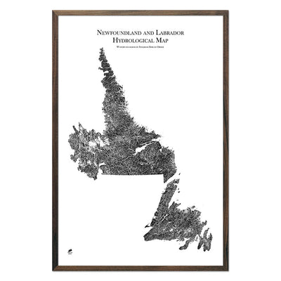 Newfoundland-and-Labrador-Hydrology-Map-black-24x36-walnut.jpg