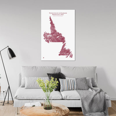 Newfoundland-and-Labrador-Hydrology-Map-red-24x36-canvas.jpg