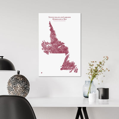 Newfoundland-and-Labrador-Hydrology-Map-red-14x21-canvas.jpg