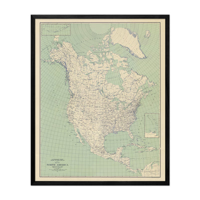 North America 1912 USGS Map Natural