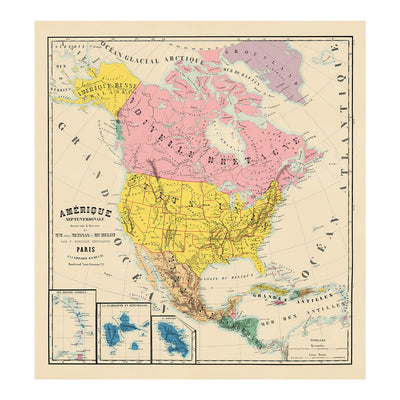 Amerique Septentrionale Composite 1844 Map