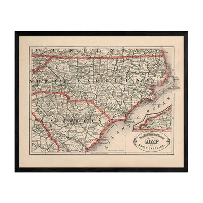 North Carolina 1883 Map