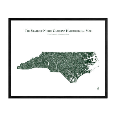 North Carolina Rivers Map
