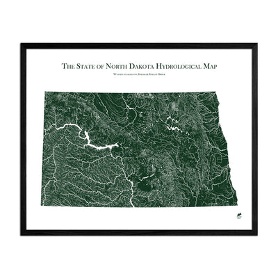 North Dakota Rivers Map