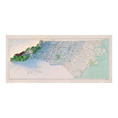 North Carolina 1972 Relief Map