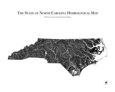 North Carolina Hydrological Map