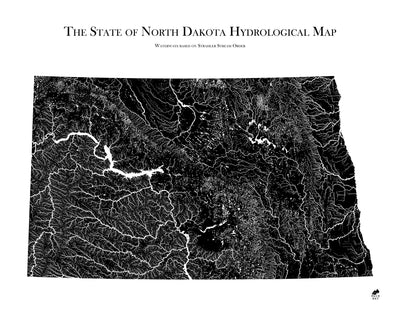 North Dakota Hydrological Map