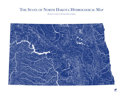 North Dakota Hydrology Map