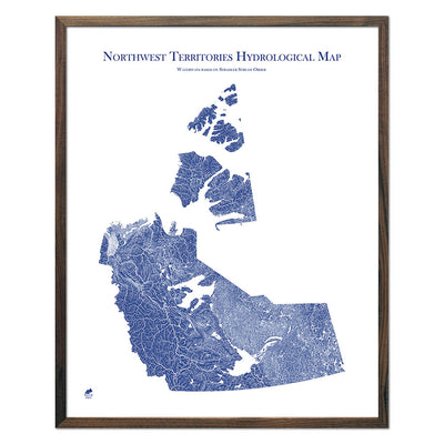 Northwest-Territories-Hydrology-Map-blue-24x30-walnut.jpg
