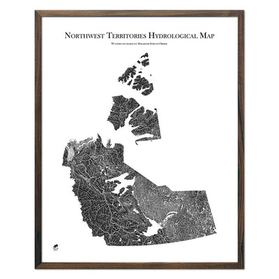 Northwest-Territories-Hydrology-Map-black-24x30-walnut.jpg