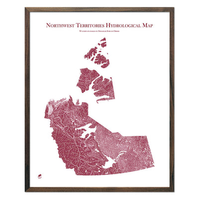 Northwest-Territories-Hydrology-Map-red-24x30-walnut.jpg