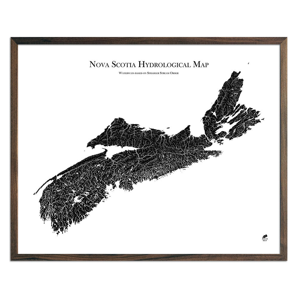 Nova-Scotia-Hydrology-Map-black-24x30-walnut.jpg