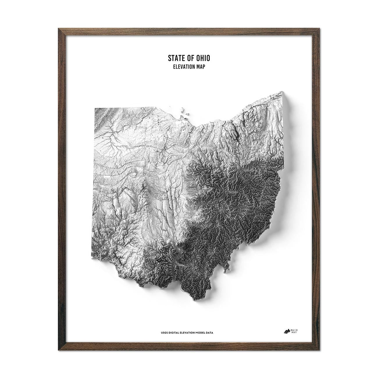 Ohio Elevation Map