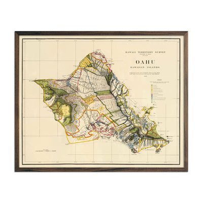 Vintage map of Oahu from 1902
