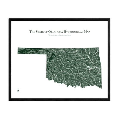 Oklahoma Rivers Map