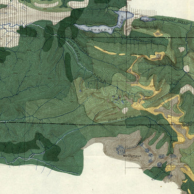 Olympic Forest Reserve Map 1899