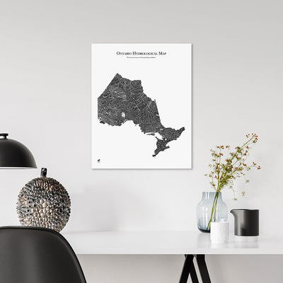 Ontario-Hydrology-Map-black-16x20-canvas.jpg