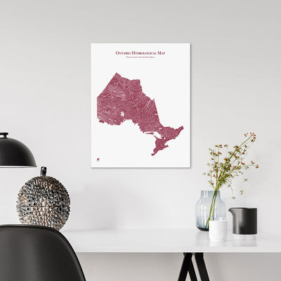 Ontario-Hydrology-Map-red-16x20-canvas.jpg