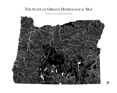 Oregon Hydrological Map