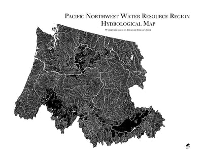 Pacific Northwest Regional Hydrological Map