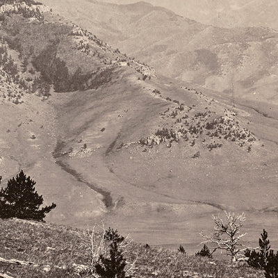 Panoramic View of Yellowstone Valley No. 1, Yellowstone 1873