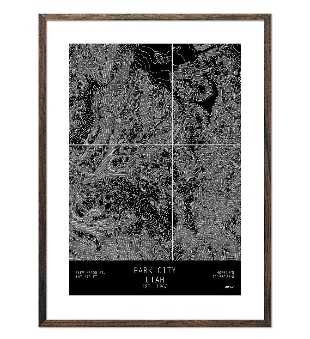 Park City Utah Topo Series Map Muir Way