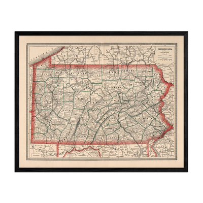 Pennsylvania 1883 Map