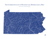 Pennsylvania Hydrological Map
