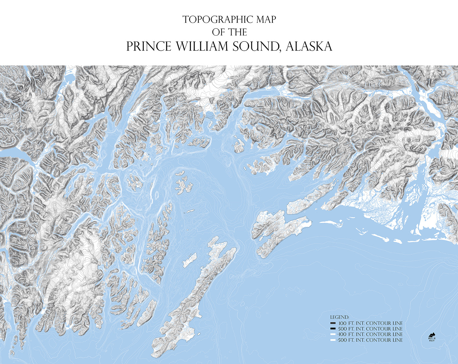 Prince William Sound Map Range Series Muir Way