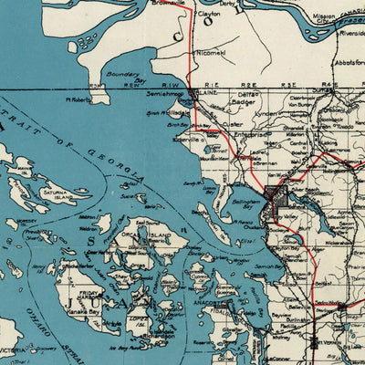 Puget Sound Country Map 1919