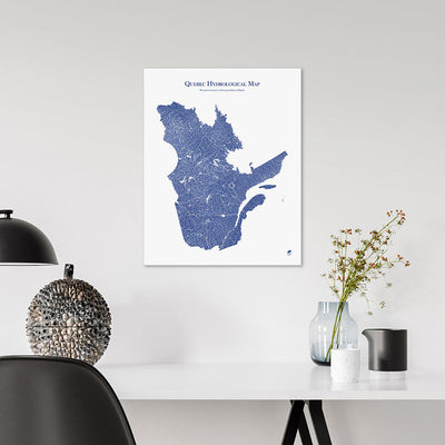 Quebec-Hydrology-Map-blue-16x20-canvas.jpg