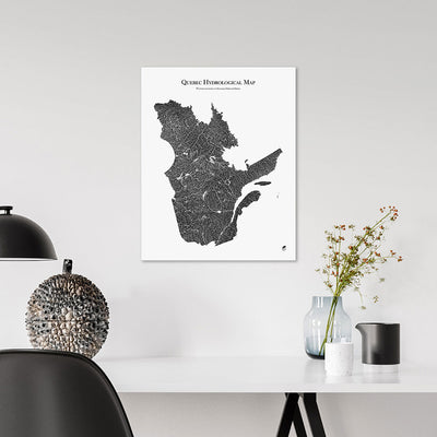 Quebec-Hydrology-Map-black-16x20-canvas.jpg