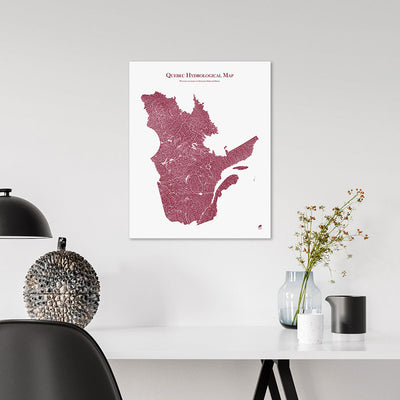 Quebec-Hydrology-Map-red-16x20-canvas.jpg