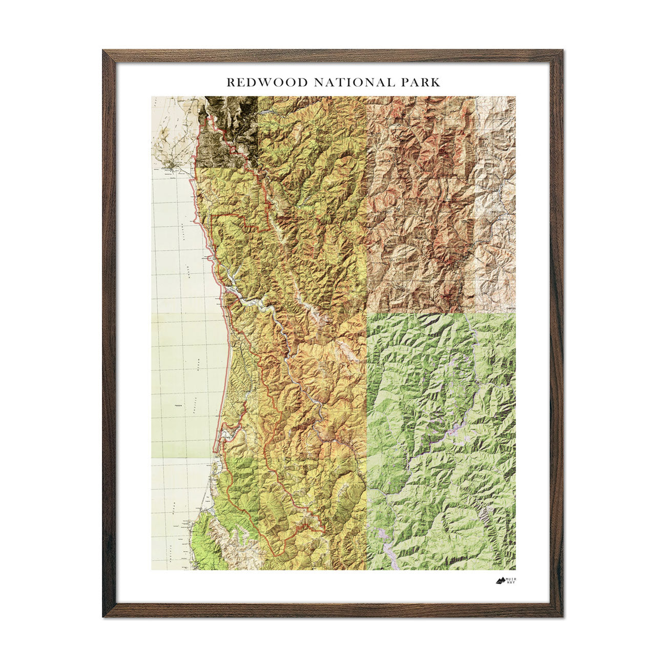 Redwood National Park Relief Map