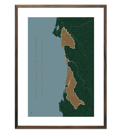 Redwood National Park Map