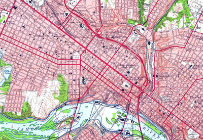 Richmond, VA 1956 USGS Map