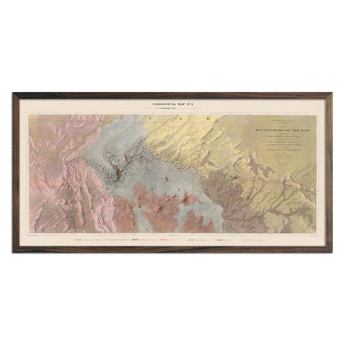 Rio Colorado Geologic 1858 Map