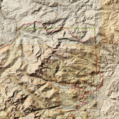 Rocky Mountain Relief Map