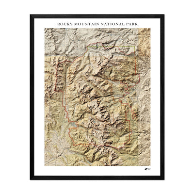 Relief Map of Rocky Mountain National Park