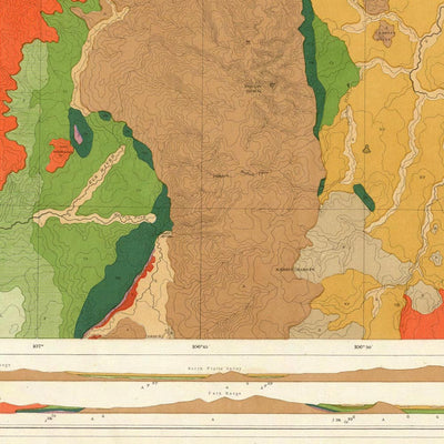 Rocky Mountains 1876 Geological Map