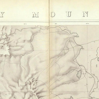 Rocky Mountains 1876 Topographic Map