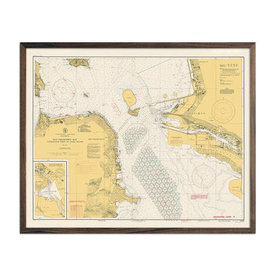 San Francisco Bay Navigational Chart 1941