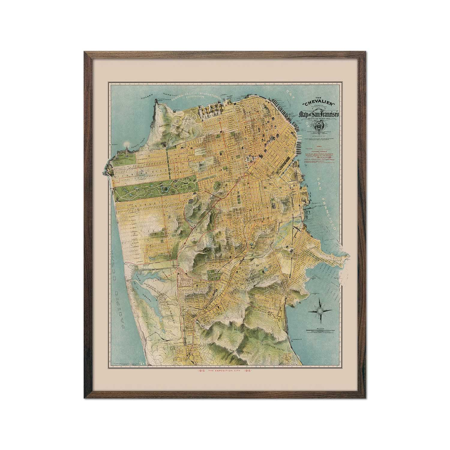 San Francisco Chevalier Map 1915
