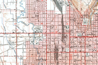 Salt Lake City, UT 1953 USGS Map
