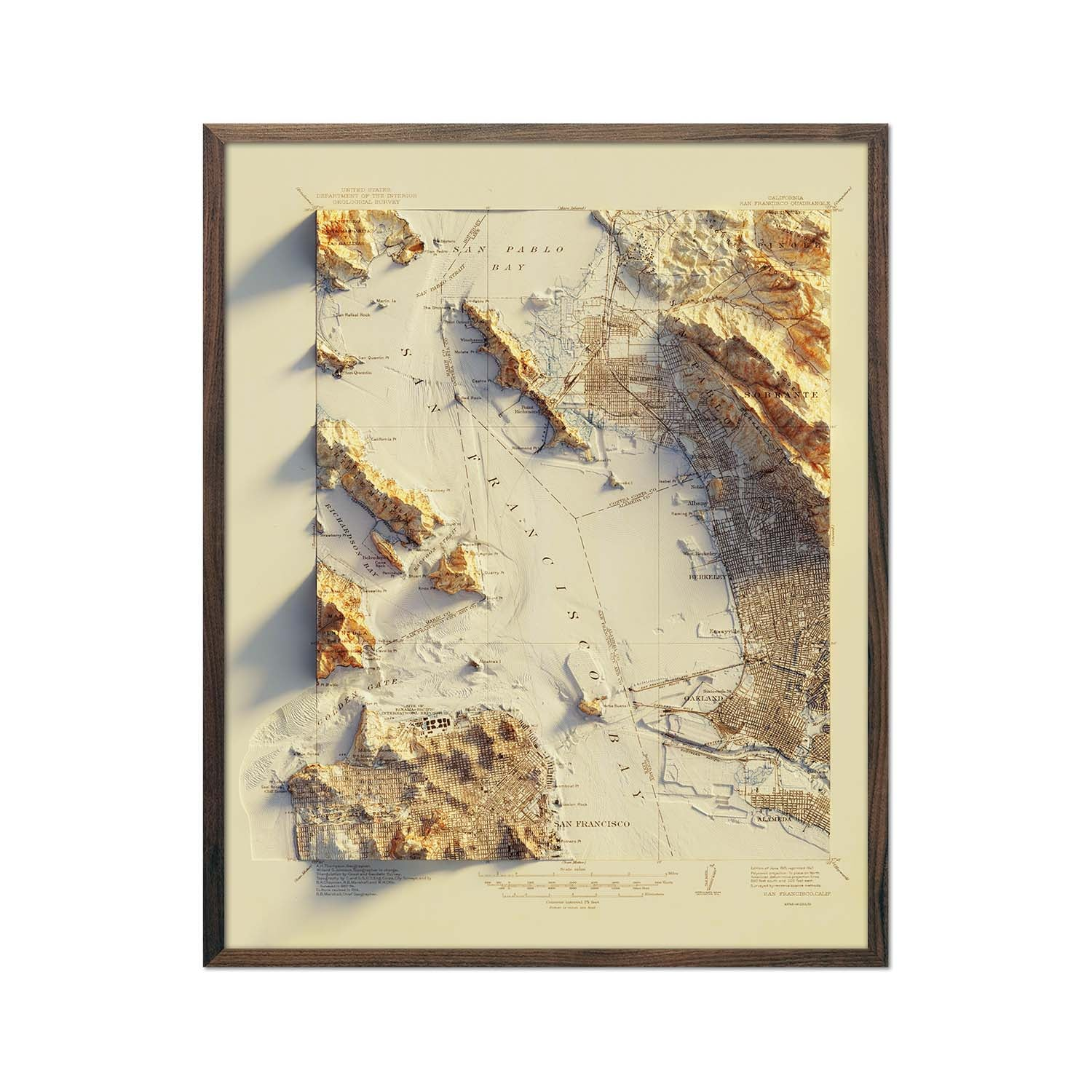 San Francisco 1915 Relief Map