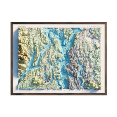 Seattle 1992 Relief Map
