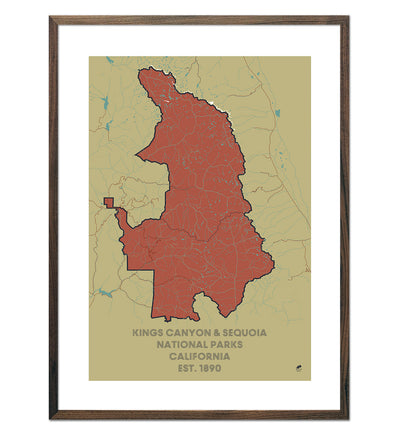 Kings Canyon and Sequoia National Parks Map