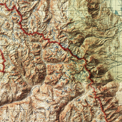Sequoia and Kings Canyon Relief Map