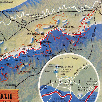Shenandoah National Park Map 1947